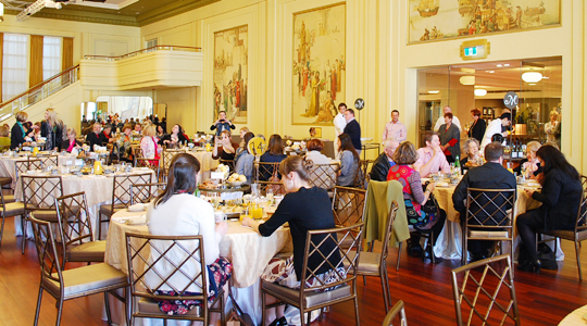 Review high tea at the myer mural hall high tea society for Mural hall myer
